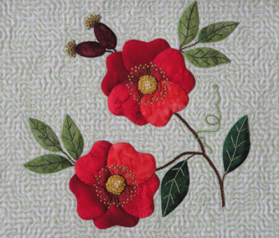 Applique Rose Pattern Free Knitting Patterns
